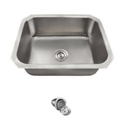 "MR Direct Stainless Steel 24"" x 18"" Undermount Kitchen Sink w/ Additional Accessories, Stainless Steel in Brushed Stainless Steel/Stainless Steel"