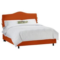 Skyline Furniture Clarita Upholstered Standard Bed Upholstered/Polyester/Polyester blend in Brown/Orange/Yellow, Size 74.0 W x 87.0 D in   Wayfair