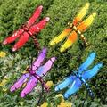 August Grove® Enchanted Garden In Flight Dragonfly Garden Stake, Glass/Metal, Size Large (2'-3') | Wayfair 869673F5C18640A4A20297F3B29F46E4