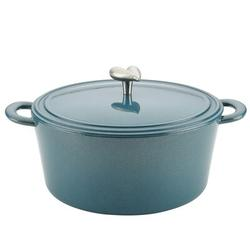 Ayesha Curry Ayesha Collection Cast Iron Dutch Oven w/ Lid, 6-Quart Cast Iron/Enameled in Blue, Size 5.0 H x 12.0 W in   Wayfair 47176