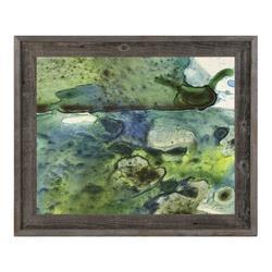 Click Wall Art 'Atqasuk' Framed Print of PaintingCanvas & Fabric in Black/Blue/Brown, Size 14.5 H x 17.5 W x 1.0 D in   Wayfair
