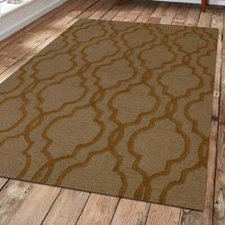 Charlton Home® Baxter Springs Geometric Handmade Tufted Area Rug Wool/Cotton in Brown, Size 108.0 W x 0.75 D in | Wayfair CHRL3792 39311021