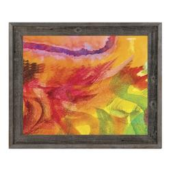 Click Wall Art 'Lumaca' Framed Painting PrintCanvas & Fabric in Brown/Green/Orange, Size 23.5 H x 27.5 W x 1.0 D in   Wayfair ABS0012725FRA20X24BST
