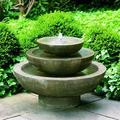 "Campania International Cast Stone Platia Fountain Finish: Alpine Stone, Concrete in Red/Bronze/Brown, Size 21""H X 30""W X 30""D   Wayfair FT-34-AS"
