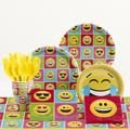 Creative Converting 81 Piece Show Your Emotions Birthday Paper/Plastic Tableware SetPaper/Plastic in Green/Pink/Yellow | Wayfair DTC2328E2A