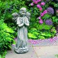 "Campania International Praying Angel Statue, Stone in Nero Nuovo, Size 27""H X 12""W X 9""D | Wayfair C-079-NN"