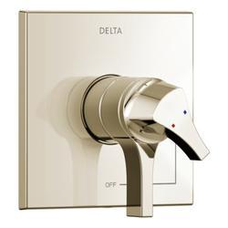 Delta Zura Pressure Balance Monitor 17 Series Valve Trim w/ Double Handle in Gray | Wayfair T17074-PN