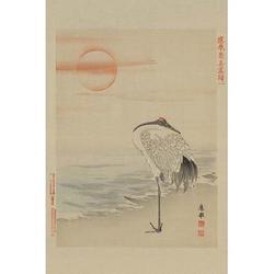 Heron by Buyenlarge - Graphic Art Print in Brown/Gray/Orange, Size 66.0 H x 44.0 W x 1.5 D in | Wayfair 0-587-23612-4C4466