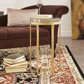 Everly Quinn Suzie End Table Metal in Yellow, Size 25.0 H x 14.0 W x 14.0 D in | Wayfair EYQN3464 40464143