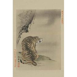 'Tiger' by Buyenlarge Painting Print in Brown/Gray, Size 30.0 H x 20.0 W x 1.5 D in | Wayfair 0-587-23608-6C4466