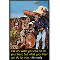 Buyenlarge 'Ask not what you can do for beer But what beer can do for you' by Wilbur Pierce Graphic Art in Blue/Brown/Yellow | Wayfair