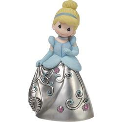 Precious Moments Disney Showcase Princess Cinderella Decorative Bell Resin Zinc Alloy Figurine Resin in Blue/Gray, Size 4.25 H x 1.77 W x 1.77 D in