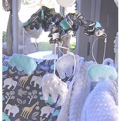 Harriet Bee Radel Musical MobilePlastic/Fabric in Blue/White, Size 18.0 H x 15.0 W x 15.0 D in | Wayfair HBEE5184 41566836
