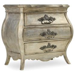 Hooker Furniture Sanctuary 3 Drawer Nightstand Wood in Brown/Gray/White, Size 30.25 H x 32.0 W x 18.75 D in   Wayfair 5413-90016