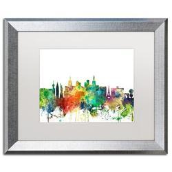 "Trademark Fine Art ""Las Vegas Nevada Skyline SP"" by Marlene Watson Framed Graphic ArtCanvas & Fabric in Brown/Green/White | Wayfair MW0525-S1620MF"