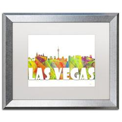 "Trademark Fine Art ""Las Vegas Nevada Skyline Mclr-2"" by Marlene Watson Framed Graphic ArtCanvas & Fabric in Brown/Green/White | Wayfair"