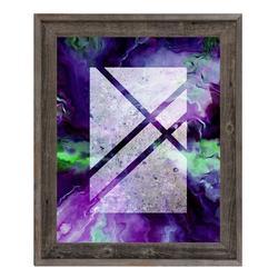 Click Wall Art 'Windows' Framed Painting PrintCanvas & Fabric in Blue/Brown/Indigo, Size 14.5 H x 17.5 W x 1.0 D in   Wayfair ABS0007845FRM11X14BST