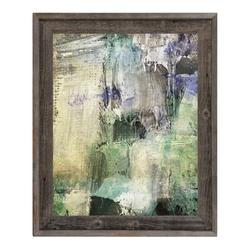 Click Wall Art 'Temple of Sight' Framed Painting PrintCanvas & Fabric in Brown/Green/Indigo, Size 14.5 H x 17.5 W x 1.0 D in | Wayfair
