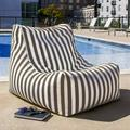 Jaxx Ponce Outdoor Small Outdoor Friendly Bean Bag Chair & Lounger Performance Fabric/Mildew Resistant/Fade Resistant/Water Resistant in Brown