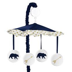 Sweet Jojo Designs Big Bear Musical MobileFabric in Blue/White, Size 25.0 H x 19.0 W x 11.0 D in   Wayfair Mobile-BigBear