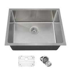 "MR Direct Stainless Steel 23"" L x 18"" W Undermount Kitchen Sink w/ Additional Accessories, Stainless Steel in Brushed Stainless Steel/Stainless Steel"