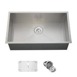 "MR Direct Stainless Steel 32"" x 19"" Undermount Kitchen Sink w/ Additional Accessories, Stainless Steel in Brushed Stainless Steel/Stainless Steel"