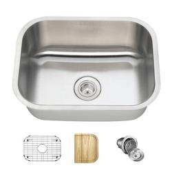 "MR Direct Stainless Steel 23"" x 18"" Undermount Kitchen Sink w/ Additional Accessories, Stainless Steel in Brushed Stainless Steel/Stainless Steel"