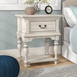 Birch Lane™ Kelton Leg 1 Drawer NightstandWood in Brown/Green/White, Size 30.0 H x 24.0 W x 17.0 D in   Wayfair ROHE3584 40814448