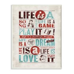 """Stupell Industries Life Is a Song Inspirational Textual Art Wall Plaque, Wood in Red/Brown/Black, Size Mini 10""""-17""""   Wayfair mwp-117_wd_10x15"""
