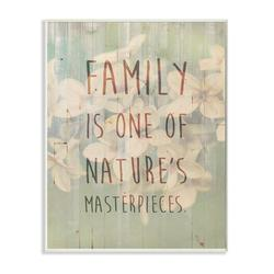 """Stupell Industries 'Family Natures Masterpieces' Graphic Art Wall Plaque, Wood in Brown/Green, Size Mini 10""""-17"""" 