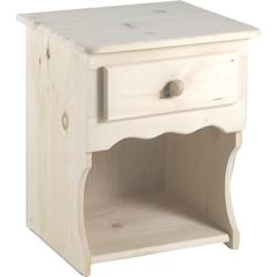 """Chelsea Home Lang 1 Drawer Nightstand, Wood in Unfinished, Size 24""""H X 22""""W X 19""""D 