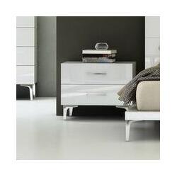Wade Logan® Parsons 2 Drawer NightstandWood in Brown/White, Size 20.0 H x 25.0 W x 18.0 D in | Wayfair WLGN6090 34763812