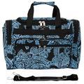 "World Traveler Paisley 16"" Shoulder Duffel, Nylon/Polyester in Black/Blue, Size Less than 18"" (X-Small)   Wayfair 81T16-642"
