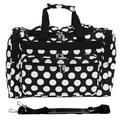"World Traveler Polka Dot ll 16"" Shoulder Duffel, Nylon/Polyester in Black/White, Size Less than 18"" (X-Small) | Wayfair 81T16-635"