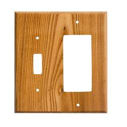 Sierra Lifestyles Traditional 2-Gang Toggle Light Switch/Rocker Combination Wall Plate in Green, Size 6.38 H x 5.0 W x 0.25 D in   Wayfair 682815