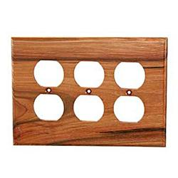 Sierra Lifestyles Traditional 3-Gang Duplex Outlet Wall Plate in Brown, Size 5.0 H x 6.88 W x 0.25 D in   Wayfair 682475