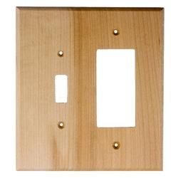 Sierra Lifestyles Traditional 2-Gang Toggle Light Switch/Rocker Combination Wall Plate in Brown, Size 6.38 H x 5.0 W x 0.25 D in | Wayfair 682579