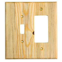 Sierra Lifestyles Traditional 2-Gang Toggle Light Switch/Rocker Combination Wall Plate in Blue, Size 6.38 H x 5.0 W x 0.25 D in | Wayfair 682814