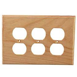 Sierra Lifestyles Traditional 3-Gang Duplex Outlet Wall Plate, Size 5.0 H x 6.88 W x 0.25 D in | Wayfair 682473