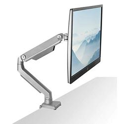 Mount-It! Single Monitor Arm Mount   Desk Stand   Full Motion Height Adjustable Articulating Mechanical Spring Arm   Fits 24 27 29 30 32 Inch VESA Compatible Computer Screen   C-Clamp and Grommet Base