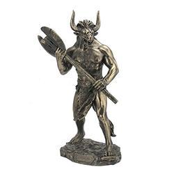 """11"""" Minotaur w/Labrys Statue Sculpture Figure Greek Mythology Figurine"""