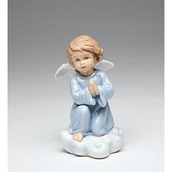 "Cosmos Gifts 10424 Fine Porcelain Inspirational Praying Angel Figurine, 4 1/4"""