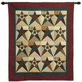 Choices Quilts Primitive Star Large Wall Hanging Throw Quilt 48 Inches by 58 Inches 100% Cotton Handmade Hand Quilted Heirloom Quality