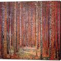 Tannenwald I by Gustav Klimt Canvas Art Wall Picture, Gallery Wrap, 24 x 24 inches