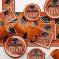 Creative Converting Graduation School Party Paper/Plastic Supplies KitPaper/Plastic in Black/Orange | Wayfair DTCORNGE2A