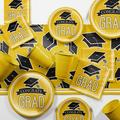 Creative Converting Graduation School Party Paper/Plastic Supplies Kit Paper/Plastic in Black/Yellow | Wayfair DTCSBYLW2A