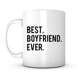 Best Boyfriend Ever-11 Ounce Ceramic White Mug, Valentine's Day Mug for Men Boyfriend Partner Him, Cool Gift Idea For Husband, Son, Husband, Boss or Friends, Unique Gift