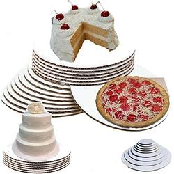 """(14"""", Pack of 50) 14 inch cake board cake boards round 14-Inch Cake Board, cake circles 14 inch cardboard cake base pizza cardboard rounds 14 inch cake boards bulk"""