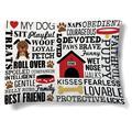 "Tucker Murphy™ Pet Diana Dog Words Fleece Dog Bed, Cotton/Polyester in White/Black, Size 30"" L x 40"" W x 10"" H | Wayfair"