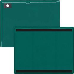 "StoreSMART - Magnetic Closure Pocket - Magnetic-Back - 10-Pack - Green - 8.5"" x 11"" (MCP8511MB-PQG-10)"